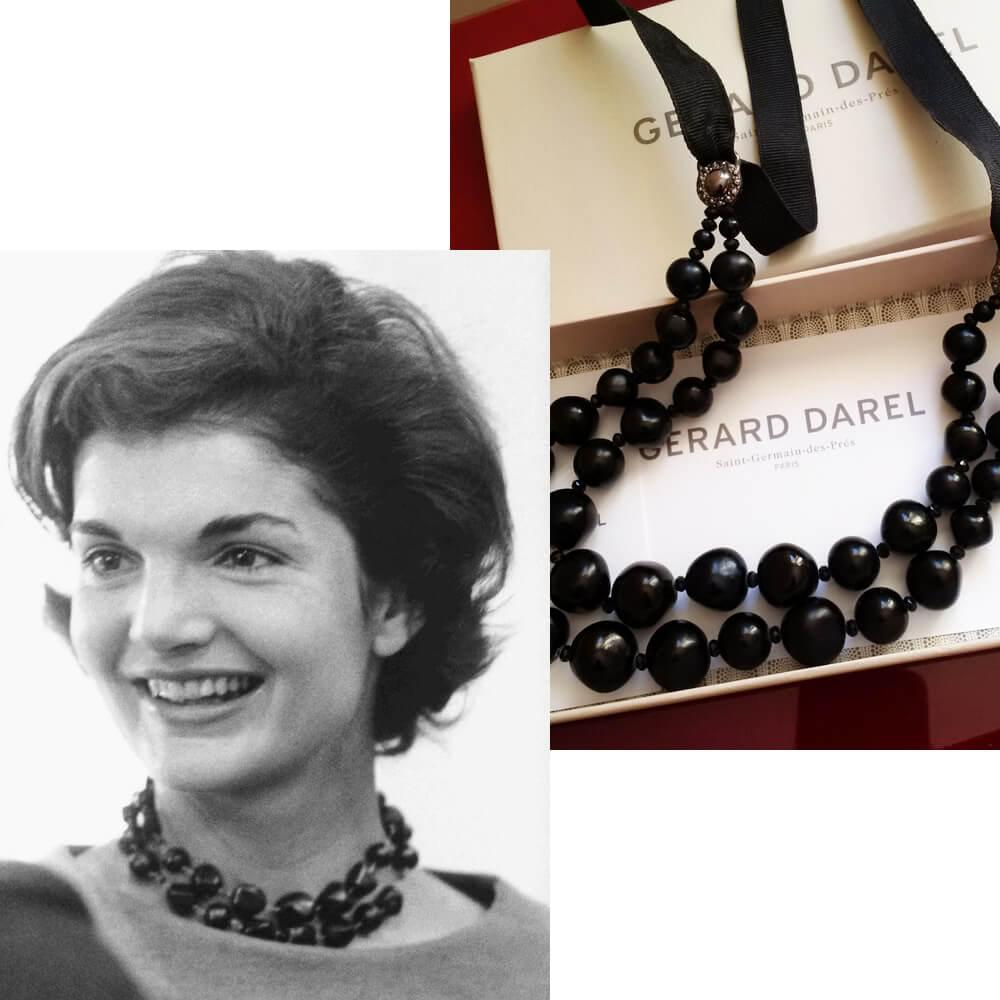 Jacqueline Kennedy in the choker, purchased by Gerard Darel