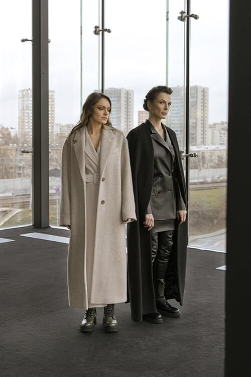 Alexander Terekhov pants, jacket, skirt and coat; Alexander Terekhov dress and coat