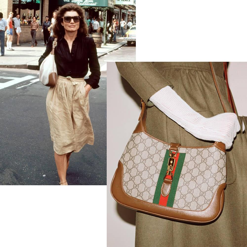 Jacqueline Kennedy with Gucci bag / Gucci Jackie 1961, fall-winter 2020/21