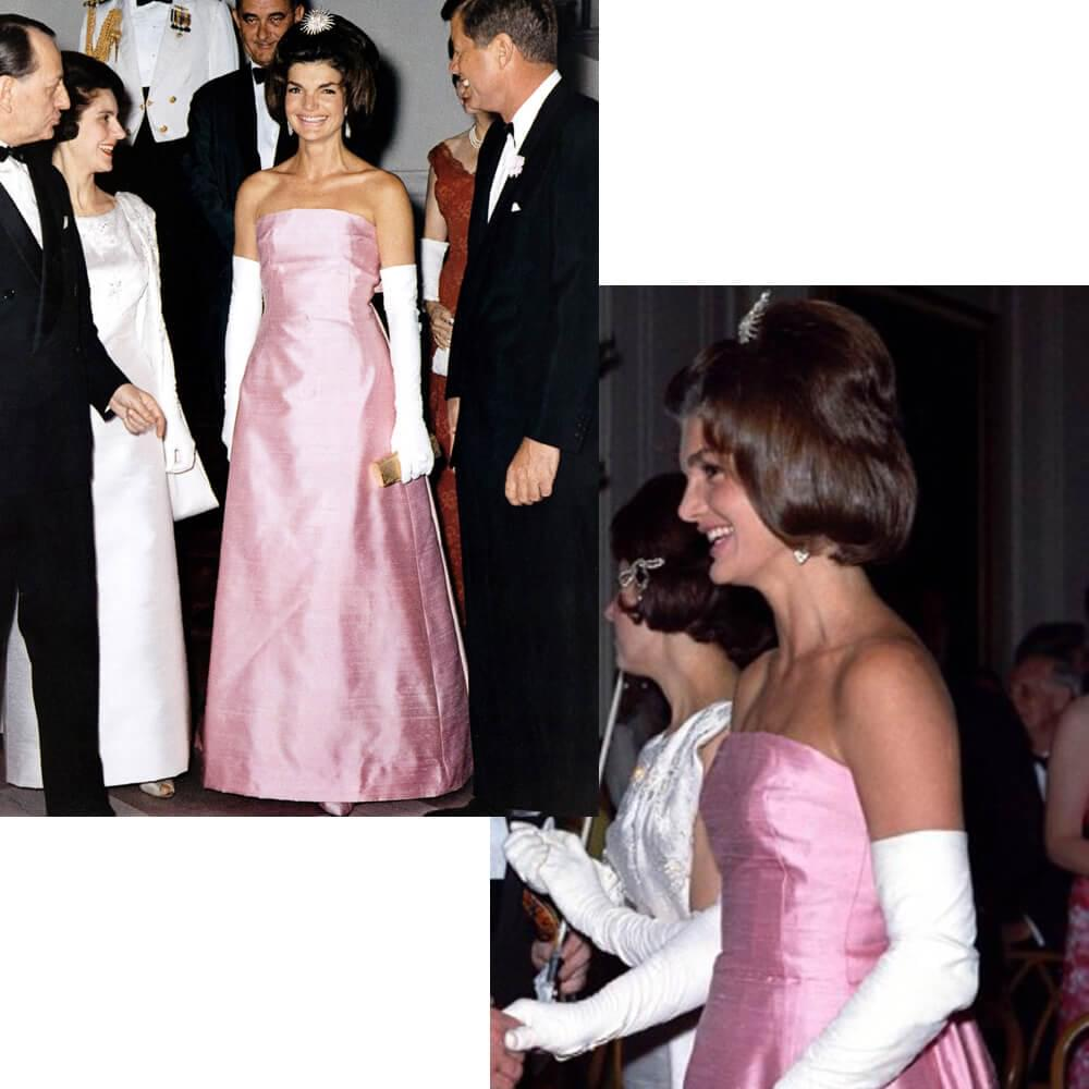Jacqueline Kennedy in Dior dress