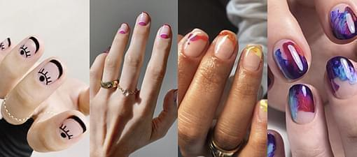 From fancy winged eyeliner to rainbow nails: fall makeup and manicure trends