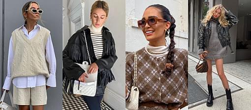 Vest, turtleneck, sweater dress: wrap up well following fashion influencer